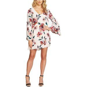 1.State Pink Floral Bell Sleeve Mini Dress XS